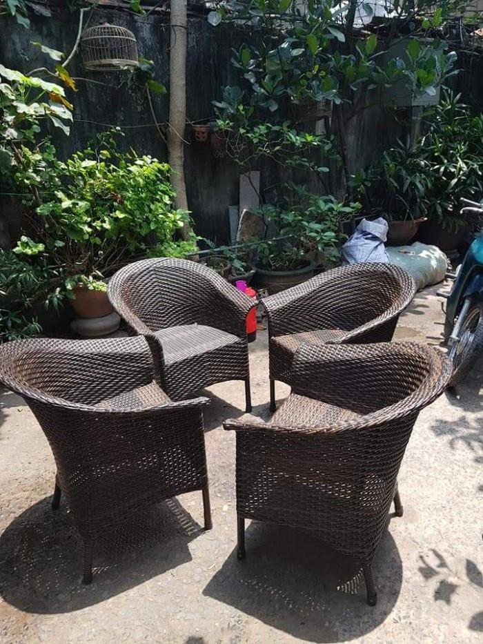 Mẫu bàn ghế mây nhựa cafe đẹp(7)