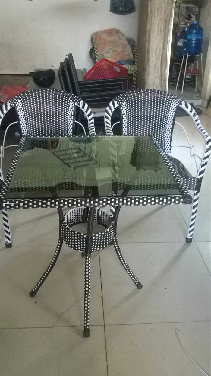 Mẫu bàn ghế mây nhựa cafe đẹp (9)
