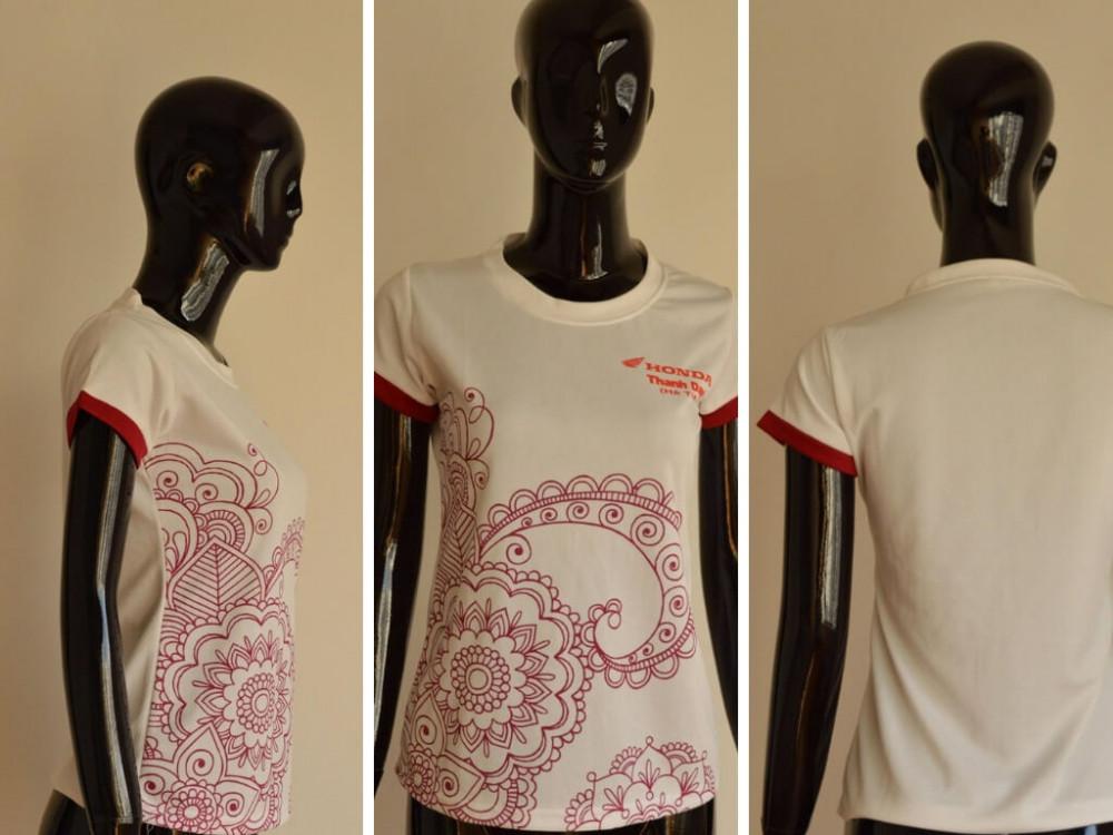 Mẫu áo cá sấu nữ đẹp - xưởng may áo thun Limac