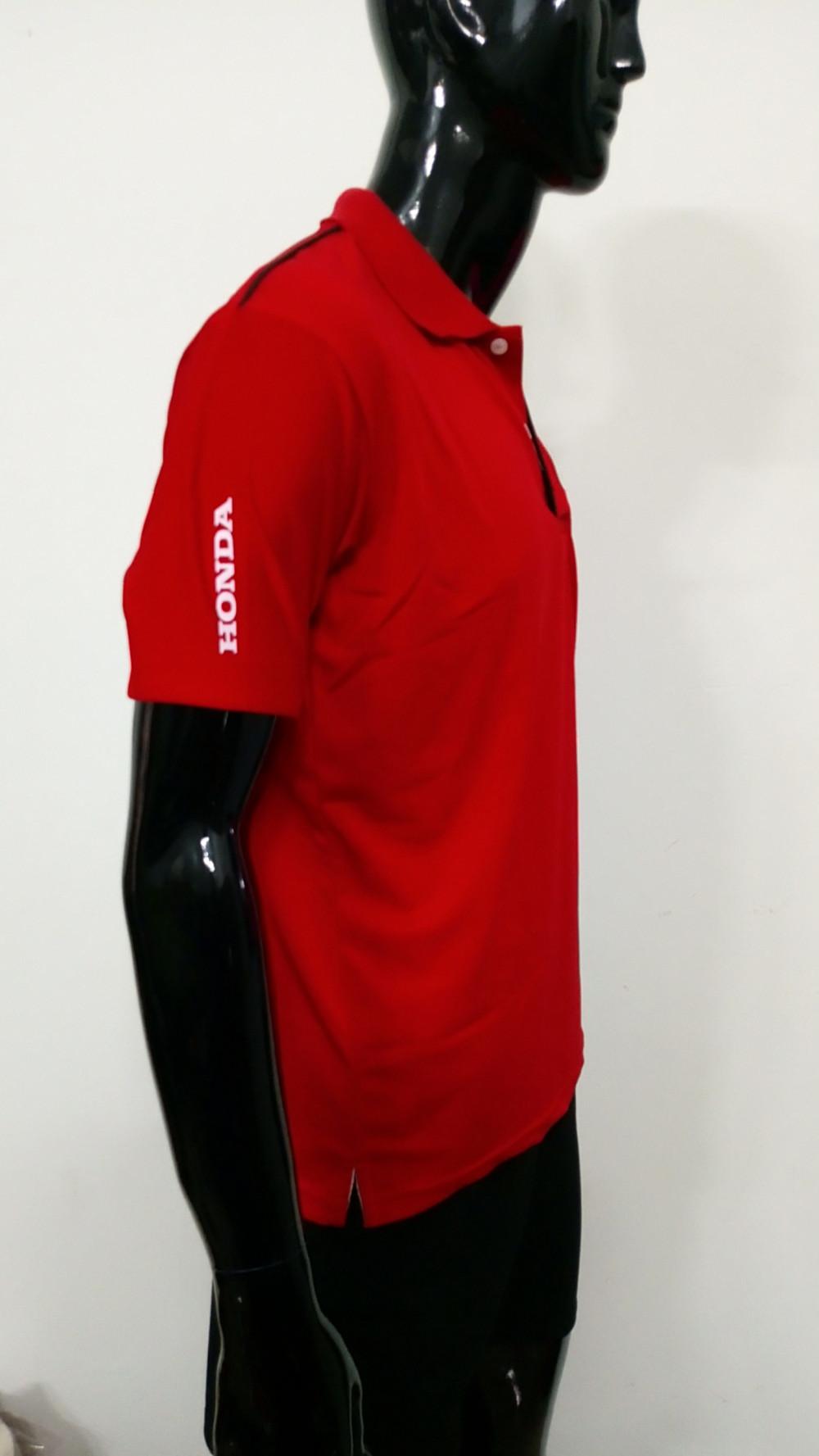 Mẫu áo thun cá sấu màu đỏ - Xưởng may áo thun bỏ sỉ 2
