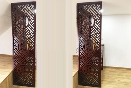 Vách ngăn cnc - vách ngăn bằng gỗ trang trí nhà đẹp