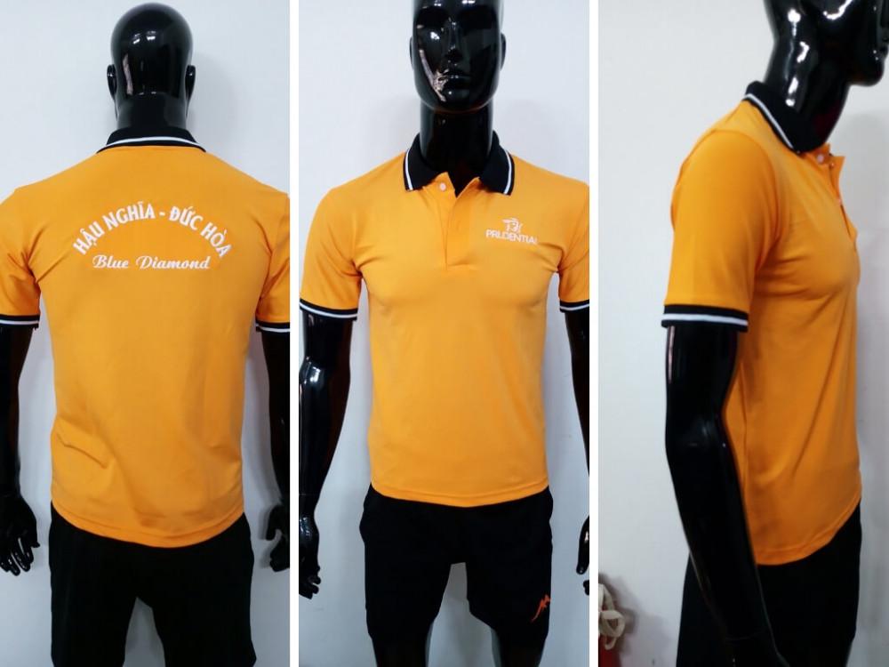 Mẫu áo thun cá sấu màu cam - Đặt may áo thun số lượng ít từ 20 áo/mẫu