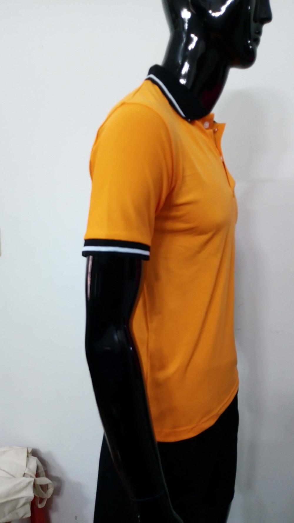 Mẫu áo thun cá sấu màu cam - Đặt may áo thun số lượng ít từ 20 áo/mẫu 2