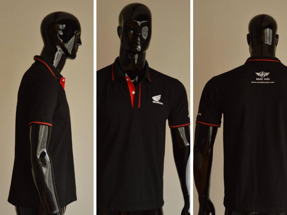 Mẫu áo thun cá sấu màu đen