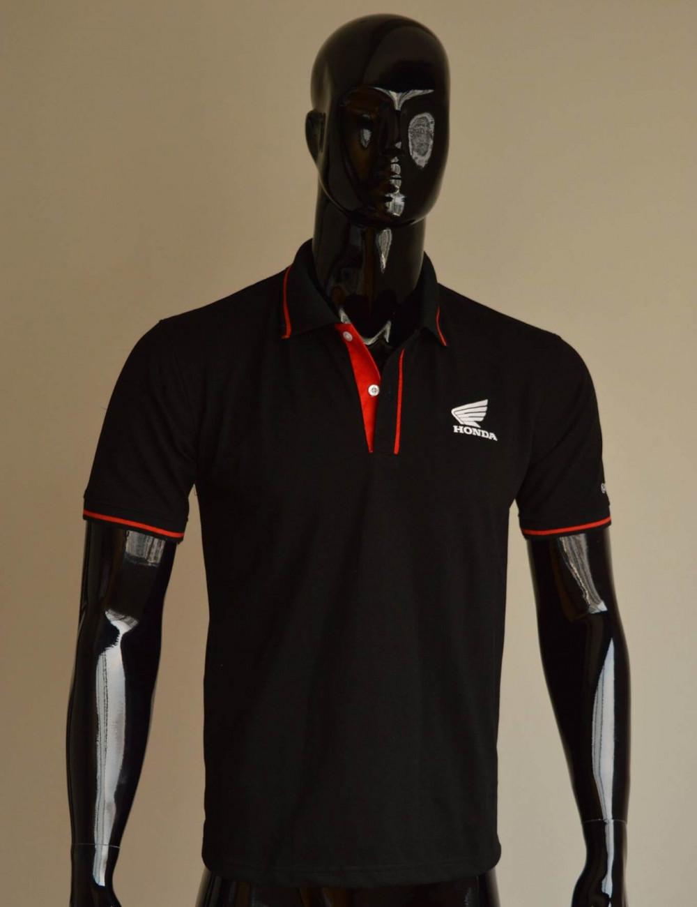 Mẫu áo thun cá sấu màu đen 1