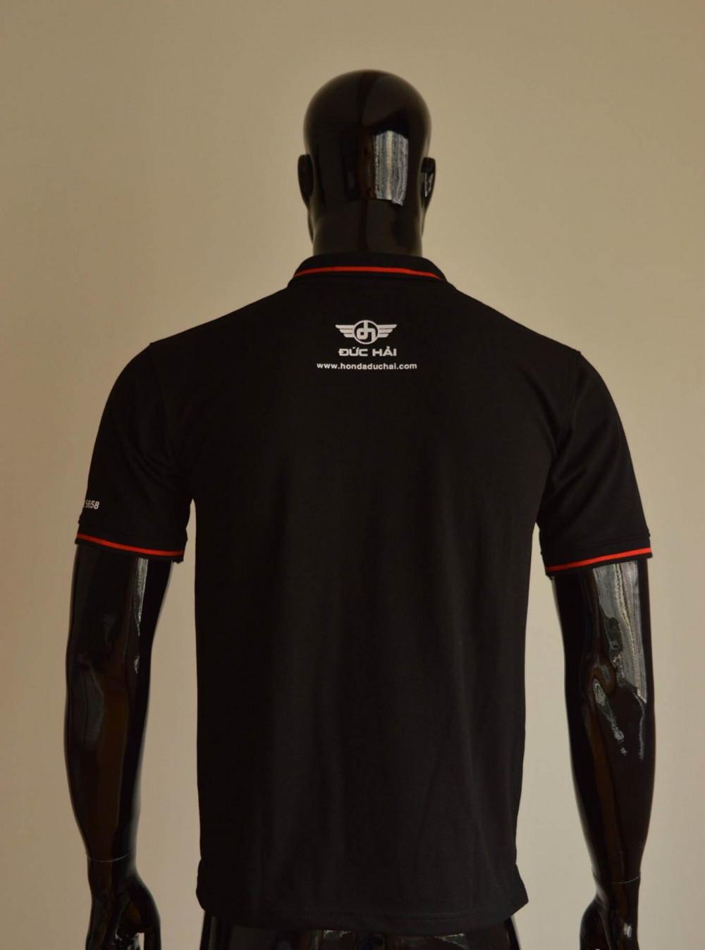 Mẫu áo thun cá sấu màu đen 3