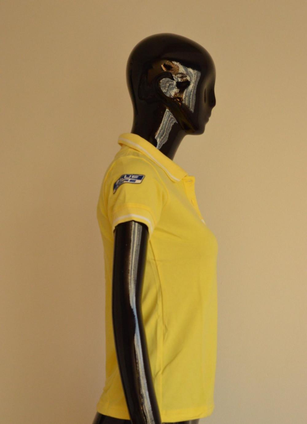 Mẫu áo thun cá sấu màu vàng cho nữ 3
