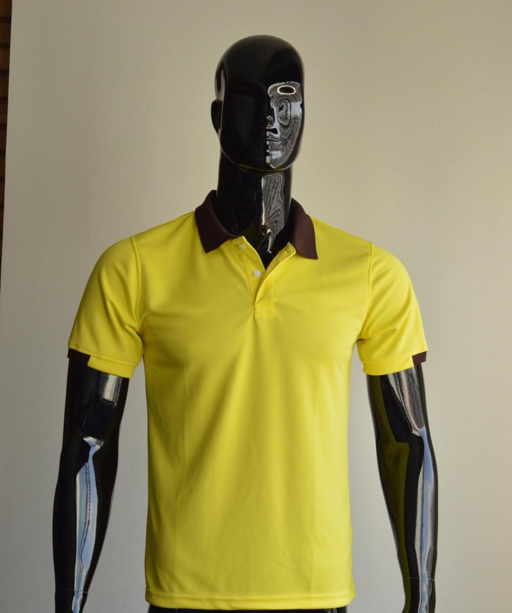 Mẫu áo thun cá sấu màu vàng dành cho nam 1