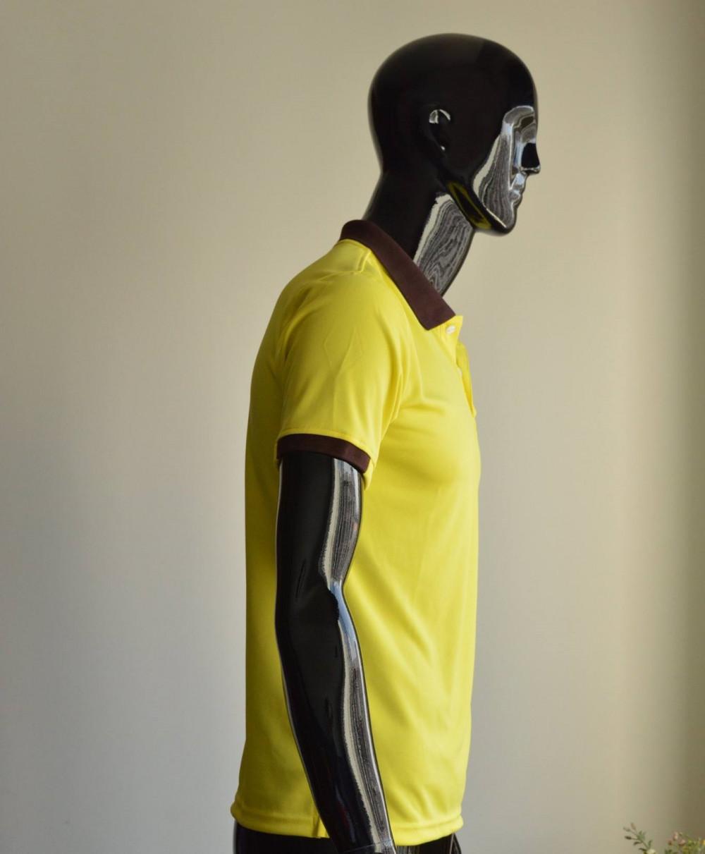 Mẫu áo thun cá sấu màu vàng dành cho nam 2