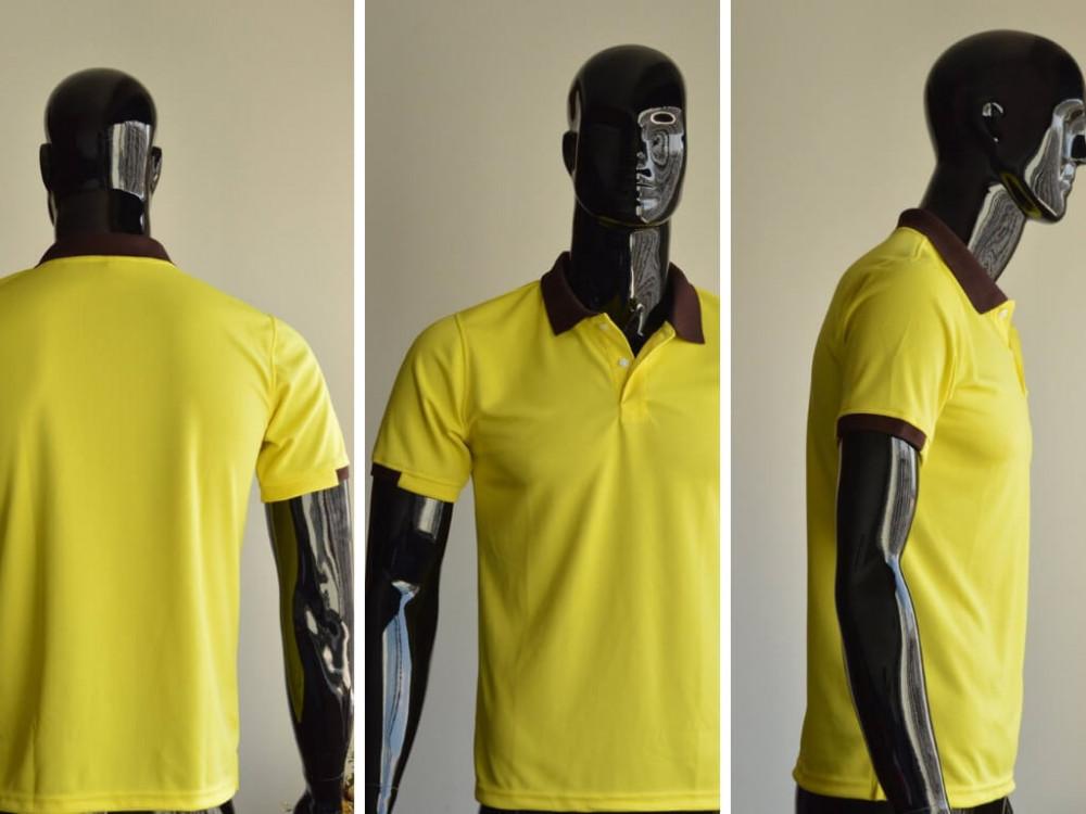 Mẫu áo thun cá sấu màu vàng - May áo thun đồng phục cao cấp nam