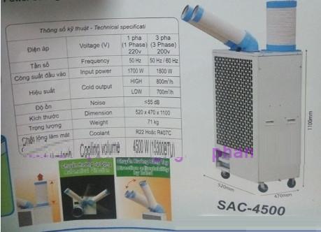 Máy lạnh di động nakatomi SAC-4500, Máy điều hoà làm mát điểm nakatomi sac-4500,