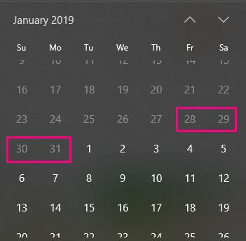 Lịch nghỉ tết dương lịch 2019