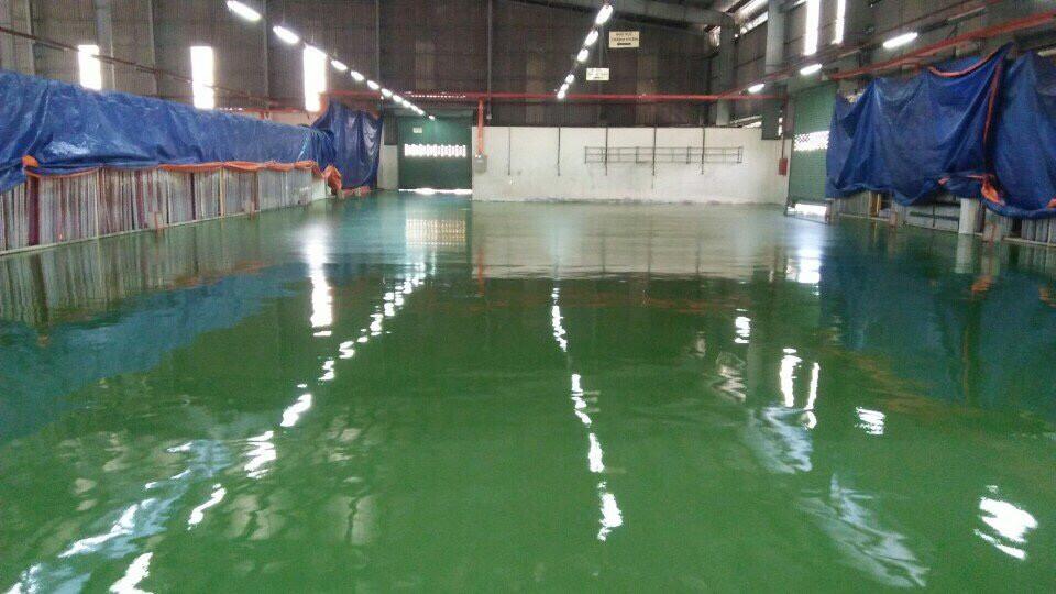 Tổng thầu Sơn Hợp Thành Phát thi công sơn sàn epoxy