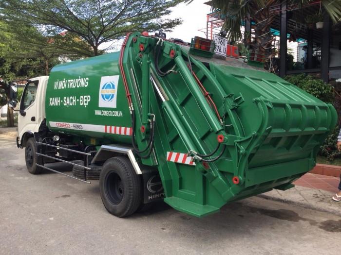 Tìm hiểu thông số kỹ thuật xe ép rác Hino(1)
