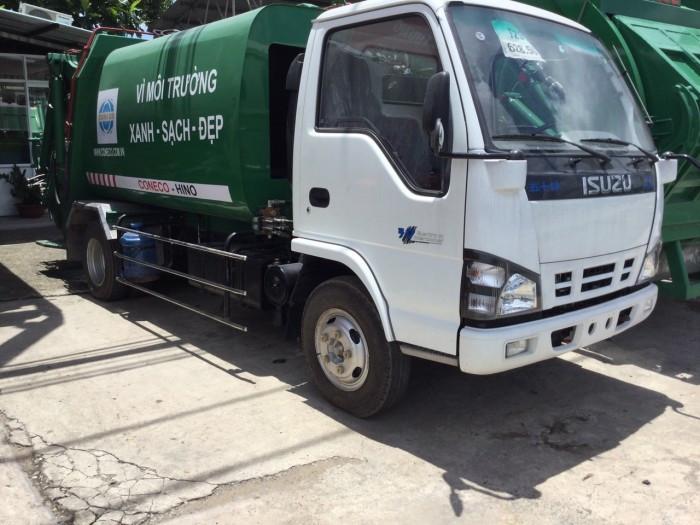 Tìm hiểu thông số kỹ thuật xe ép rác Isuzu(1)