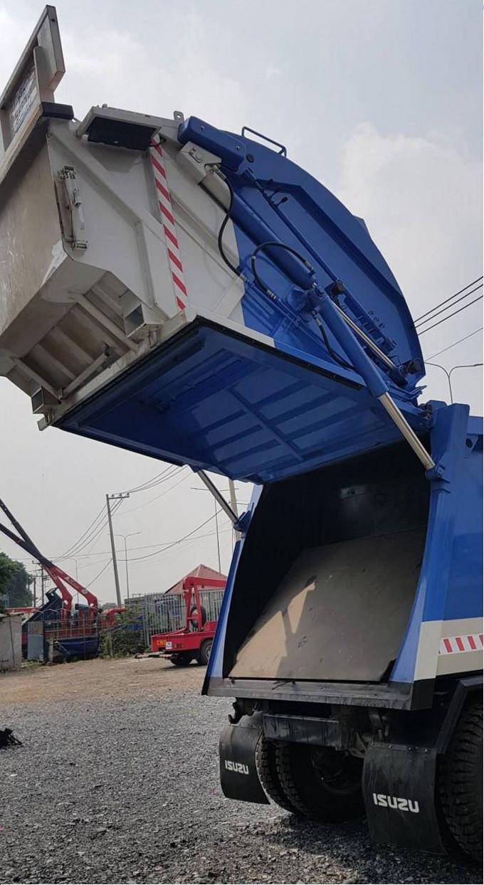 Tìm hiểu thông số kỹ thuật xe ép rác Isuzu(3)