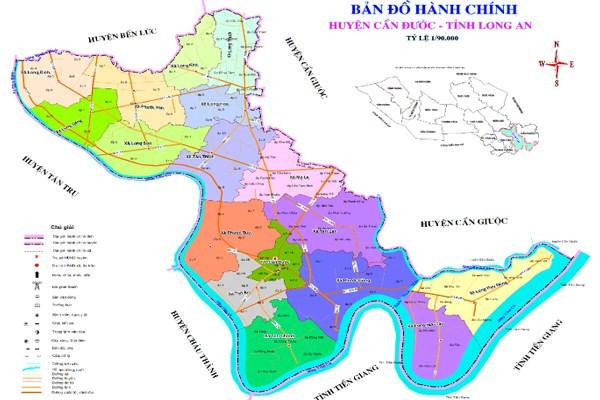 Bản đồ quy hoạch huyện Cần Đước Long An