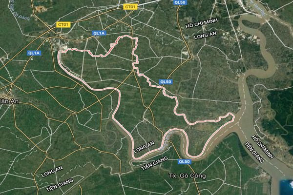 Bản đồ vệ tinh của huyện Cần Đước – Long An