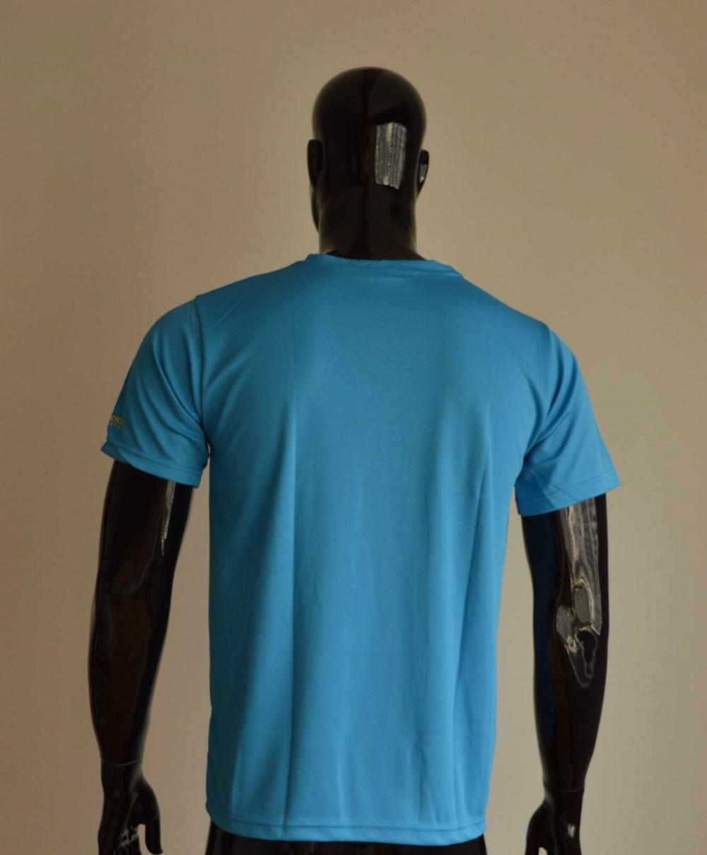 Mẫu áo thun cá sấu màu xanh da trời - tay ngắn, cổ tròn cho nam (3)
