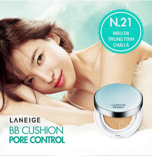 Phấn nước kiềm dầu và se khít lỗ chân lông Laneige BB Cushion Pore Control SPF 50+ PA+++ 15g (1)