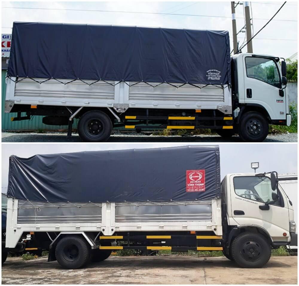 So sánh xe tải Isuzu 3.5 tấn và xe tải Hino 3.5 tấn