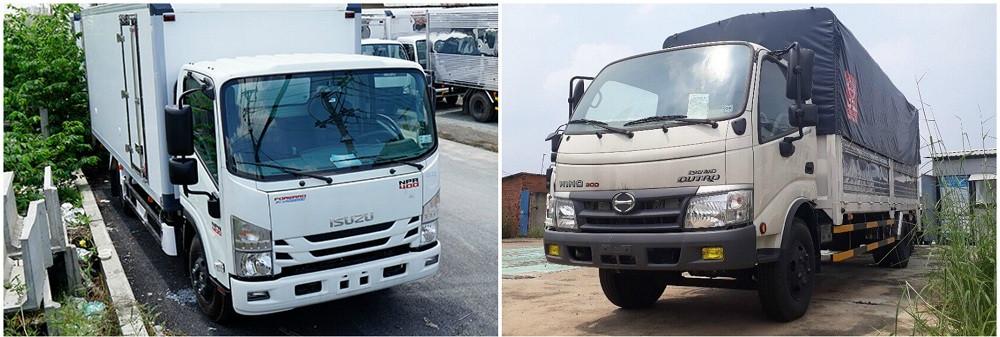 So sánh xe tải Isuzu 3.5 tấn và xe tải Hino 3.5 tấn về giá cả