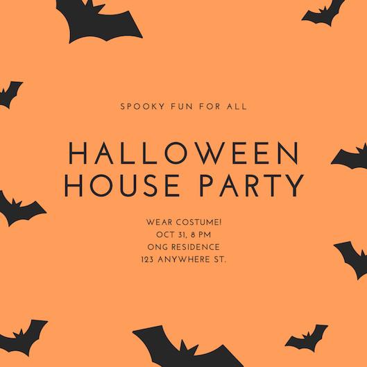 Mẫu thiệp mời Halloween Party 1