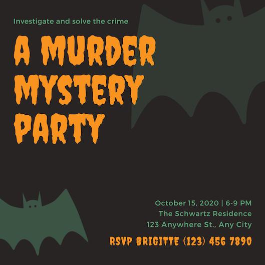 Mẫu thiệp mời Halloween Party 2
