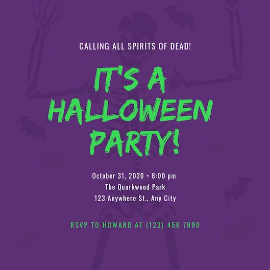 Mẫu thiệp mời Halloween Party 4