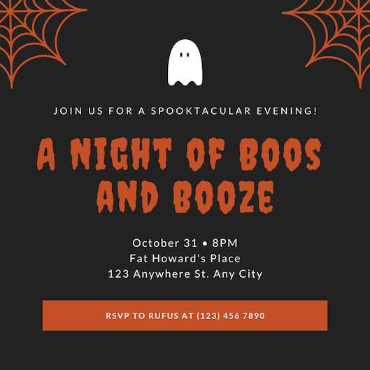 Mẫu thiệp mời Halloween Party 6