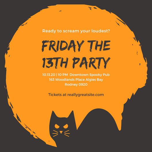 Mẫu thiệp mời Halloween Party 7