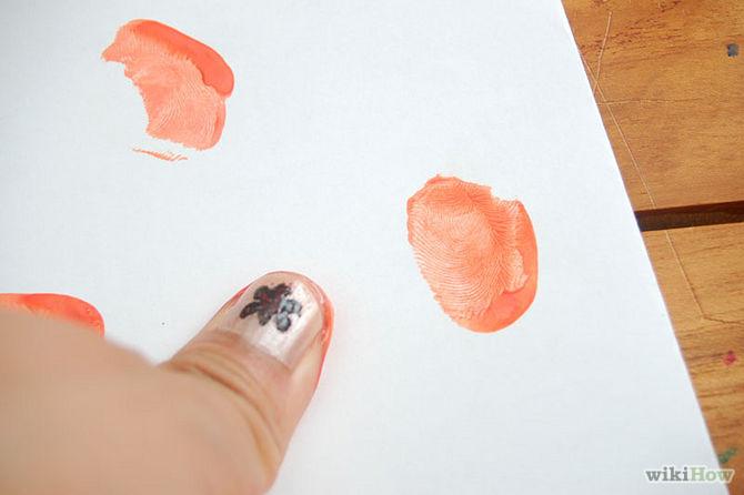 Tự tay làm thiệp mời Halloween đơn giản, độc đáo bằng vân tay 2
