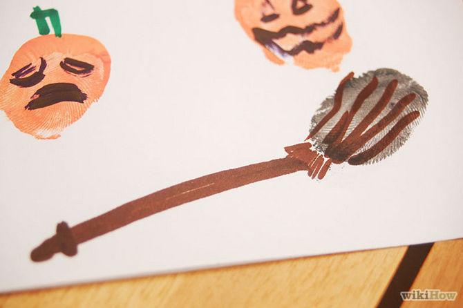 Tự tay làm thiệp mời Halloween đơn giản, độc đáo bằng vân tay 3