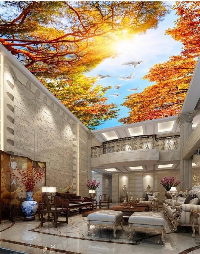 Mẫu trần xuyên sáng nhà hàng, khách sạn đẹp