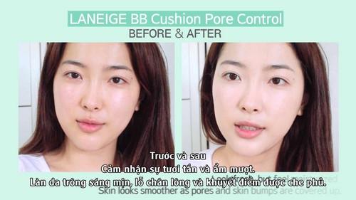 Phấn nước kiềm dầu và se khít lỗ chân lông Laneige BB Cushion Pore Control SPF 50+ PA+++ 15g (4)
