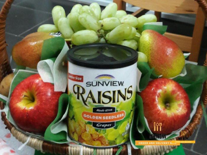 Giỏ trái cây làm quà tặng vợ kỷ niệm ngày cưới 2
