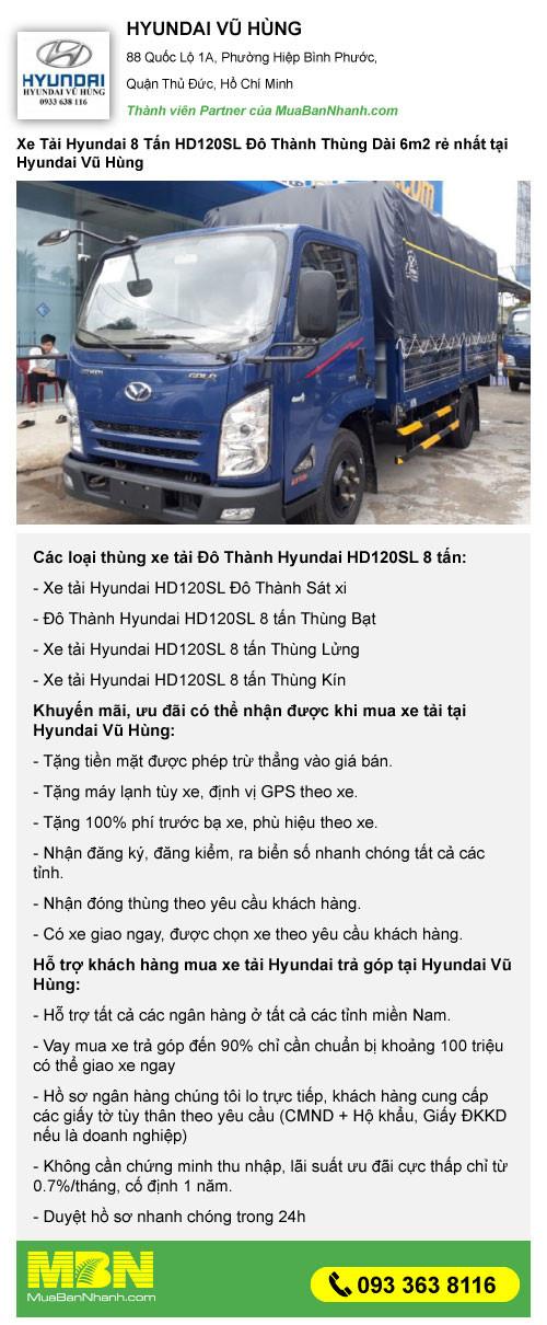 Những lý do nên mua xe tải 8 tấn thùng dài Đô Thành HD120SL(6)