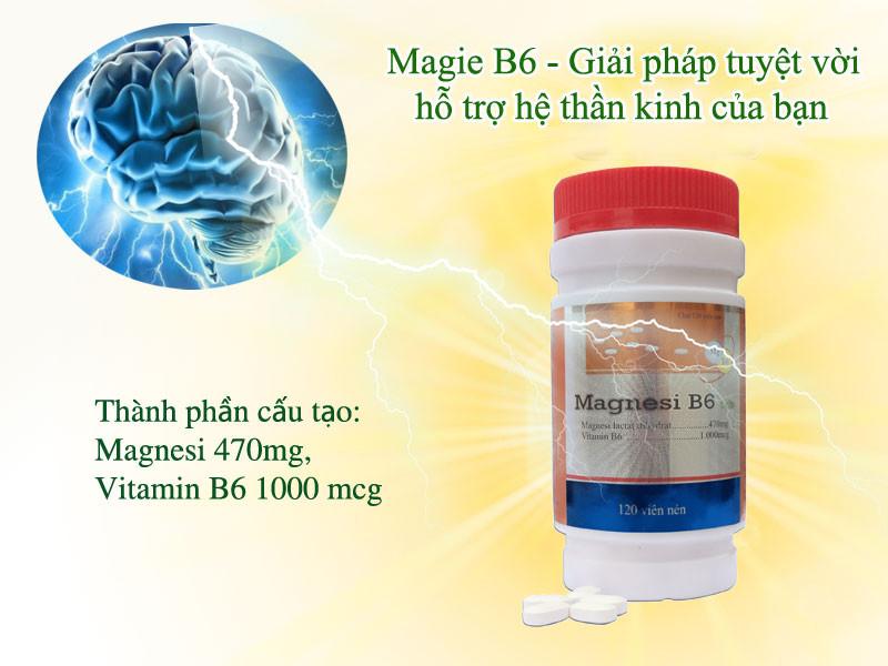 Giải pháp tuyệt vời hỗ trợ hệ thần kinh của bạn với Magnesi B6