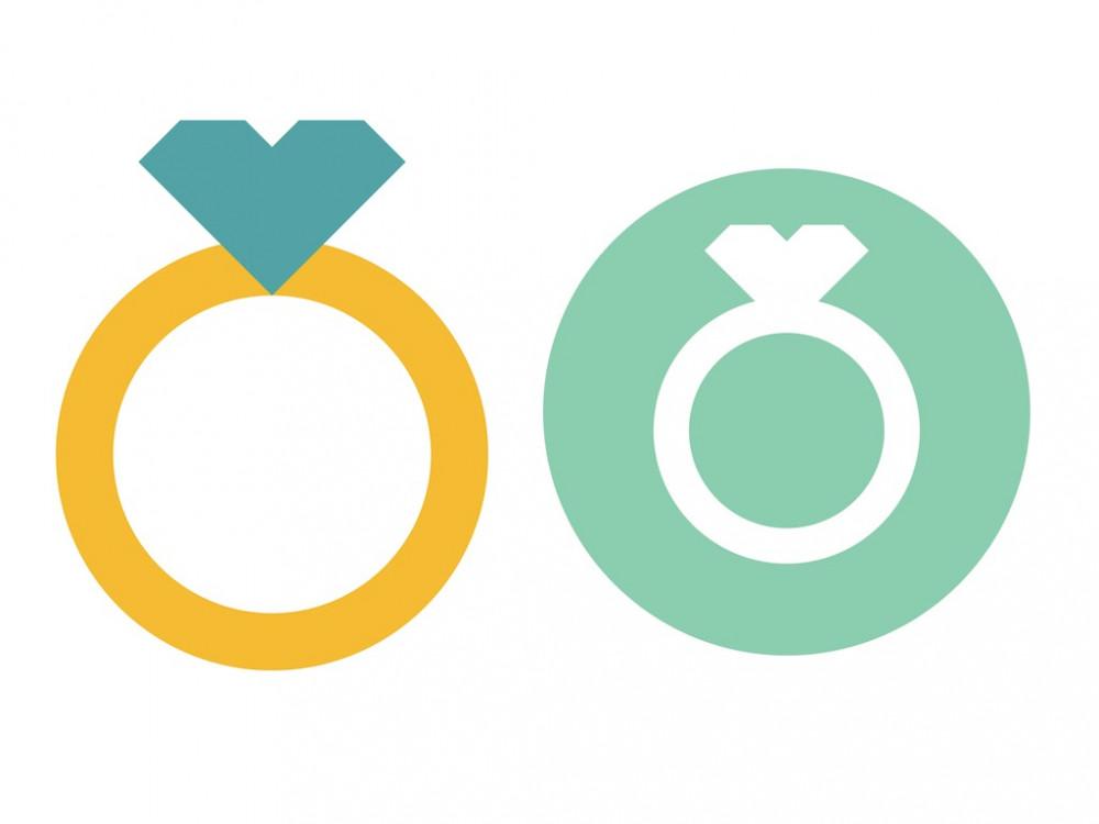 Bảng tên đám cưới vector 3