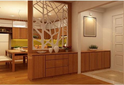 Mê mẫn với vách ngăn cnc phòng khách và bếp bằng gỗ đẹp