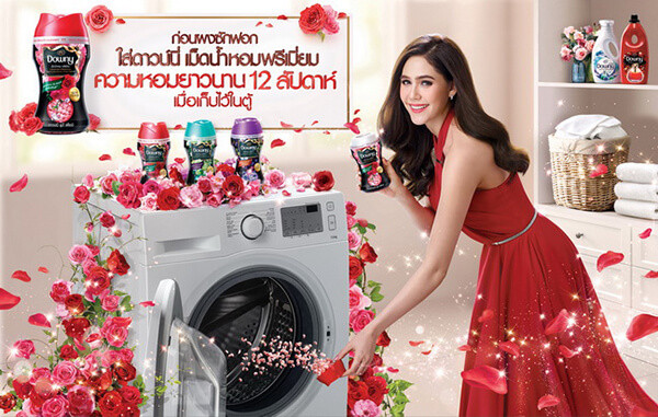 Viên xả vải khô Downy Thái Lan giúp lưu hương thơm trên quần áo(3)