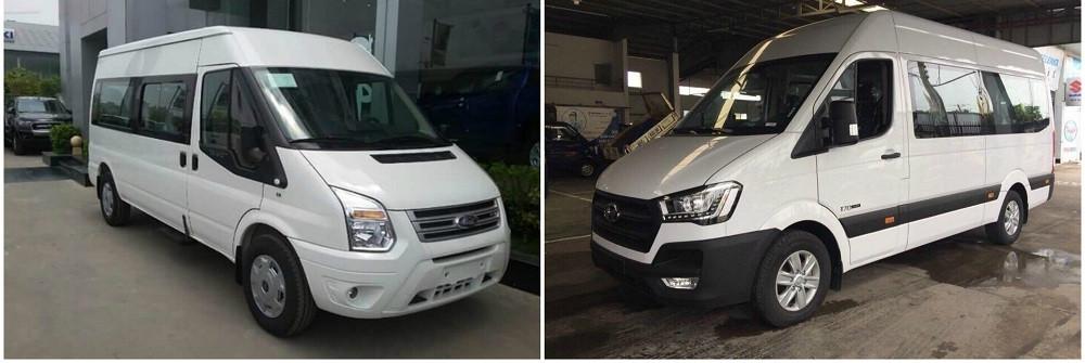 So sánh xe 16 chỗ Hyundai Solati và Ford Transit về vận hành