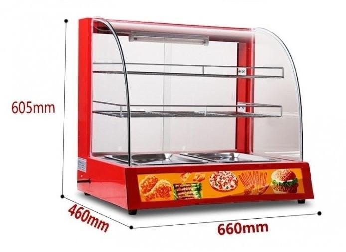 Ưu điểm của tủ giữ nóng trưng bày thực phẩm trong nhà hàng