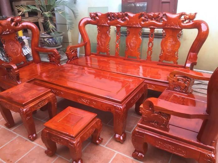 Mẫu bàn ghế phòng khách Minh Quốc Đào gỗ xoan ta(3)