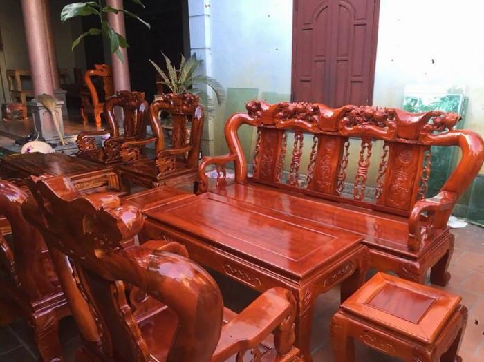 Mẫu bàn ghế phòng khách Minh Quốc Đào gỗ xoan ta(4)