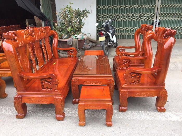 Mẫu bàn ghế phòng khách Minh Quốc Đào gỗ xoan ta(6)