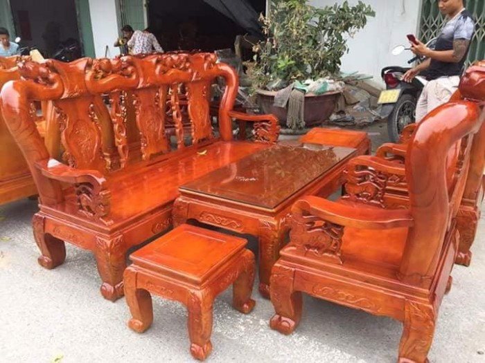 Mẫu bàn ghế phòng khách Minh Quốc Đào gỗ xoan ta(7)