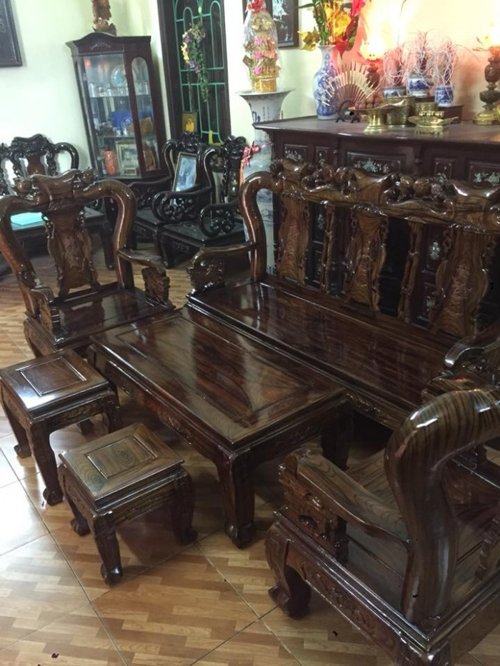 Mẫu bàn ghế phòng khách Minh Quốc Đào gỗ xoan ta(17)
