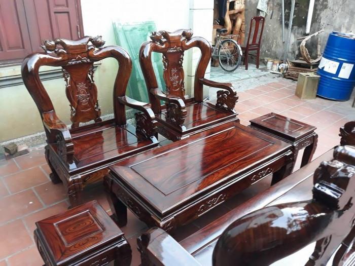 Mẫu bàn ghế phòng khách Minh Quốc Đào gỗ xoan ta(18)