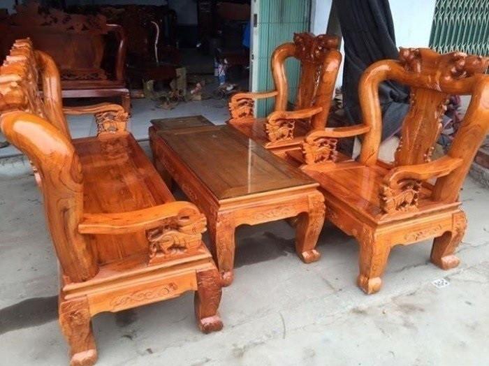 Mẫu bàn ghế phòng khách Minh Quốc Đào gỗ xoan ta(10)